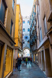 Side street from St. Mark`s Square in Venice, Italy Royalty Free Stock Photography