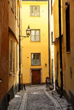 Side street in Stockholm Stock Image