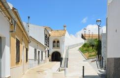 Sunny Spanish white town Montilla Stock Image
