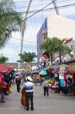 Side street in Tijuana Mexico stock photo
