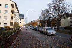 Side streets in big city. Frankfurt Stock Image