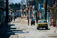 The side streets of Trinidad, Cuba. stock photo