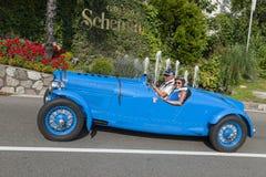 _side sul de Tirol Rallye 2016_Delahaye 135 M Le Mans Fotografia de Stock Royalty Free