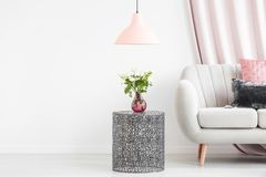Side table with bouquet Royalty Free Stock Images