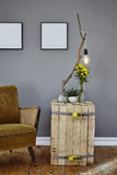 Side table and design lamp Royalty Free Stock Photos