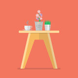 Side table in flat style. Vector Illustration Stock Photo