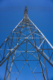 Side of Tall Electric Tower Stock Photography