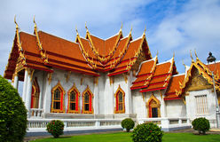 Side of Temple in Thailand Royalty Free Stock Photography