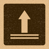 This Side Up Icon. This Way Up Sign. Packaging Symbol. For Delivery of Cargo Stock Photography