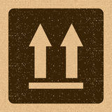 This Side Up Icon. This Way Up Sign. Packaging Symbol. For Delivery of Cargo Stock Photos