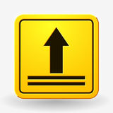 This Side Up Icon. This Way Up Sign. Packaging Symbol. For Delivery of Cargo Royalty Free Stock Photos