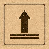 This Side Up Icon. This Way Up Sign. Packaging Symbol. For Delivery of Cargo Stock Images