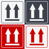 This Side Up Icon. This Way Up Sign. Packaging Symbol. For Delivery of Cargo Stock Image