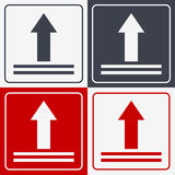 This Side Up Icon. This Way Up Sign. Packaging Symbol. For Delivery of Cargo Royalty Free Stock Images