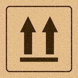 This Side Up Icon. This Way Up Sign. Packaging Symbol. For Delivery of Cargo Royalty Free Stock Image