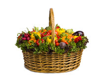 Side of vegetable basket Stock Images