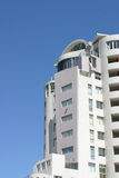 Side view. Of a new hotel with blue skies Royalty Free Stock Images