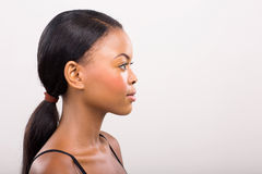 Side view african woman Royalty Free Stock Photo