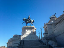Side view of the altar of the homeland - Rome - Piazza Venezia Royalty Free Stock Image