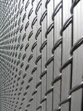 Side view of aluminum fence Royalty Free Stock Photo