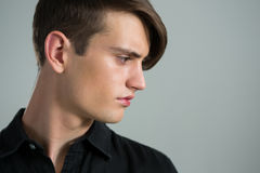 Side view of androgynous man Stock Image