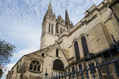 Side view of Angers Cathedral Royalty Free Stock Photo