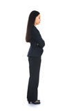 Side view of Asian business woman thinking Royalty Free Stock Images