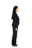 Side view of Asian business woman thinking Royalty Free Stock Photography