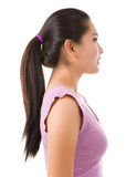 Side view of Asian lady Stock Photo