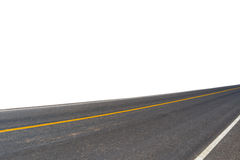 Side view of asphalt road. Isolated on white background. This has clipping path royalty free stock image