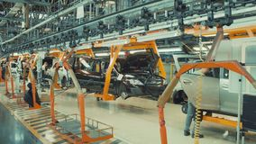 RUSSIA, TOGLIATTI 16 JULY 2018 Assembly process of new cars stock video footage