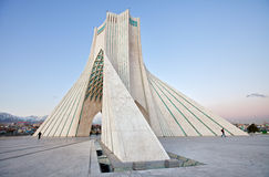 Side view of Azadi square in Tehran Stock Photos
