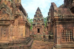 Side view of Banteay Srei Temple Stock Photo