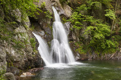 Side View of Bash Bish Falls. In the spring time royalty free stock photos