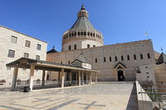 Side view of the Basilica of the Annunciation Royalty Free Stock Image