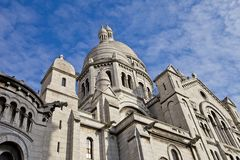 Basilica of the Sacred Heart of Paris (1914). Side view of the Basilica of the Sacred Heart (1914). Montmartre hill, Paris, France Stock Images