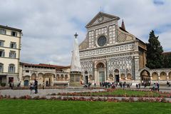 Side view of Basilica of Santa Maria Novella in Florence Royalty Free Stock Photography