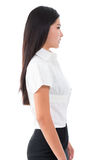 Side view of beautiful Asian young woman Stock Image