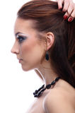 Side-view of beautiful model Royalty Free Stock Photo