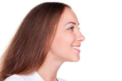 Side view of beautiful woman Stock Photography