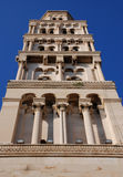 Side view of bell tower. Side view of St. Domnius' bell tower in Split - Croatia Stock Photos