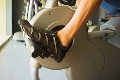 Bicycle fitness with legs Royalty Free Stock Photos