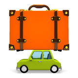 Side View Of Big Travel Luggage On Car Royalty Free Stock Images