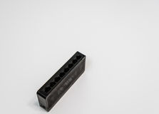 Side view of black wireless router Stock Photo
