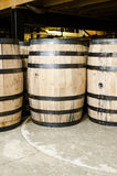 Side view of bourbon barrel vertical Royalty Free Stock Images