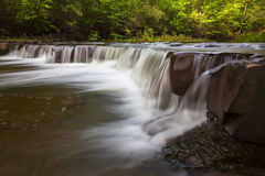 Side View of Bozenkill Preserve Falls. Bozenkill Preserve Falls in New York stock image