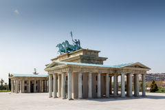 Side view of the Brandenburg Gate Royalty Free Stock Photography