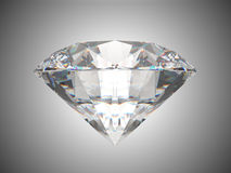 Side view of brilliant cut diamond Royalty Free Stock Photography