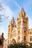 Side view of British Natural History Museum in London royalty free stock photo