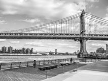 Side view of the Brooklyn Bridge Royalty Free Stock Images